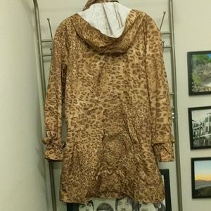 Calvin Klein Jackets & Coats - Calvin Klein Cheetah Print Rain Coat NWOT